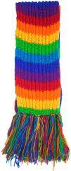 Long hand knit Scarf stripe rainbow