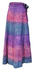 Wrapover batik skirt purple/pink bubble