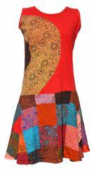 Stonewash Sleeveless Patchwork Mini Dress