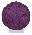 Half fleece lined - pure wool - scroll beret - Heather