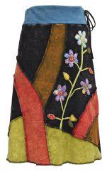 ***SALE*** Applique stonewash midi skirt block colours