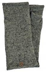 Fleece lined wristwarmer Plain Mid grey