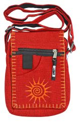 Small embroidered sunbag red