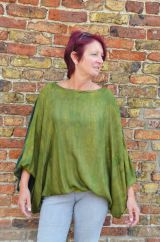 Batwing top tonal greens
