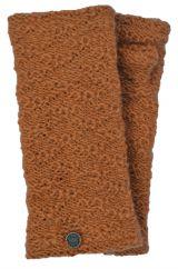 Fleece lined textured wristwarmers nugget