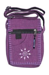 Small embroidered sunbag pale purple
