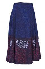 Batik butterfly dip dye wraparound skirt