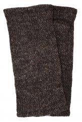 Fleece lined wristwarmer Plain Brown