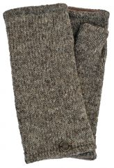 Fleece lined wristwarmer Plain Pale marl brown