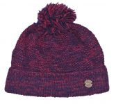 Two tone - turn up - bobble hat - blueberry