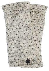 Fleece lined wristwarmer tick Pale Grey