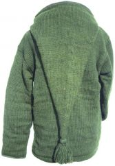 Nov SALE Detachable pixie hood cable jacket Green