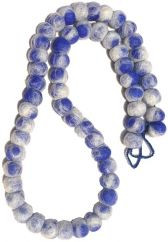 Blue White Tie Dye Necklace