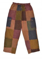 patchwork trousers browns
