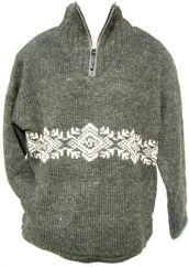 Fleece lined pull on frieze Grey