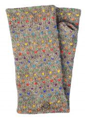 Fleece lined wristwarmer rainbow tick Marl Brown