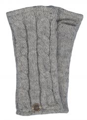 Fleece lined wristwarmer cable Mid grey