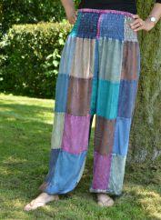 Patchwork harem trousers pastel