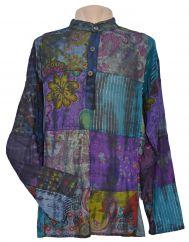 Light weight patchwork sparkle shirt dark