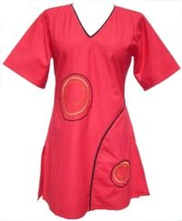 ***SALE*** Short Sleeved Cotton Tunic With Circles