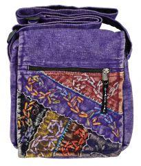 Hand embroidered medium bag purple