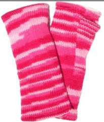 Fleece lined wristwarmer electric Pink