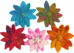 Small Lotus Flower Orange, Green Yellow, Pink Turquoise, Red
