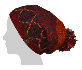 Hand knit half fleece lined X Slouch Sunrise