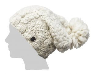 Pure wool half fleece lined soft wool sparkle slouch Cream