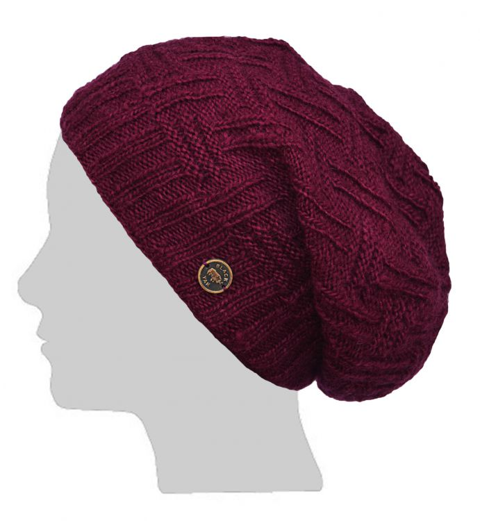 How To Loom Knit Slouchy Beanie Basketweave : Basket weave slouch hat at black yak